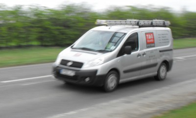 Vehicle tracking on a commercial van