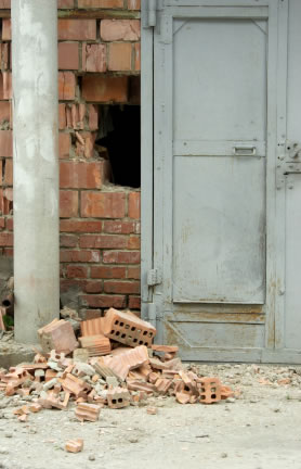 Broken Bricks - an issue solved with security products positioned nearby