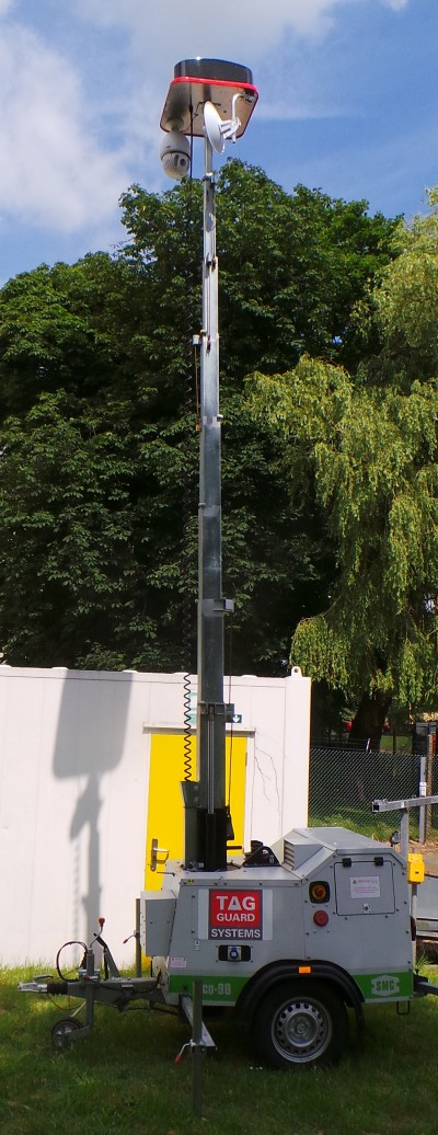 Portable Tower Cabin is a stand alone Wireless Security Systems