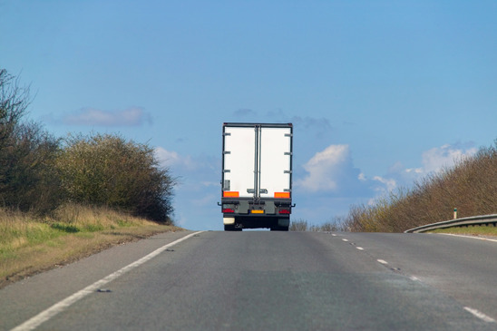 Lorry on a hill
