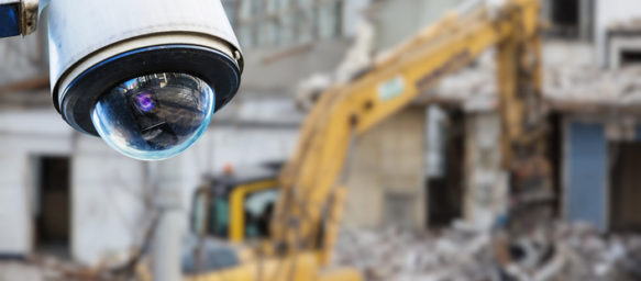 CCTV camera in front of construction site