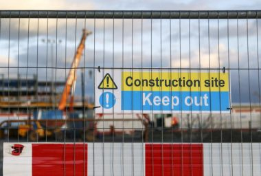 'Construction Site - Keep Out' Sign