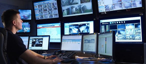 Man Working In Control Room