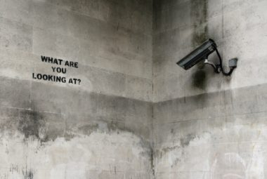 CCTV Camera Facing Wall